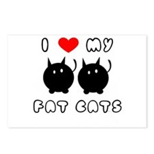 i love my fat cats Postcards (Package of 8)