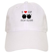 i love my fat cats Baseball Cap