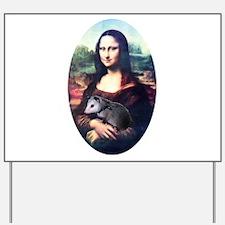 Mona Lisa Possum Yard Sign