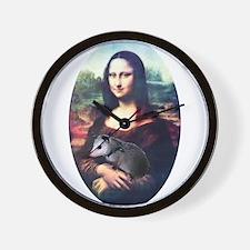 Mona Lisa Possum Wall Clock