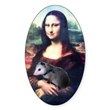 Mona Lisa Possum Oval Decal