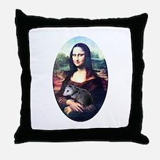 Mona Lisa Possum Throw Pillow