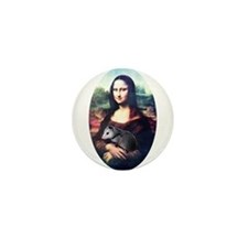 Mona Lisa Possum Mini Button (10 pack)