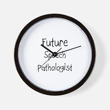 Future Speech Pathologist Wall Clock