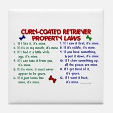Curly-Coated Retriever Property Laws 2 Tile Coaste