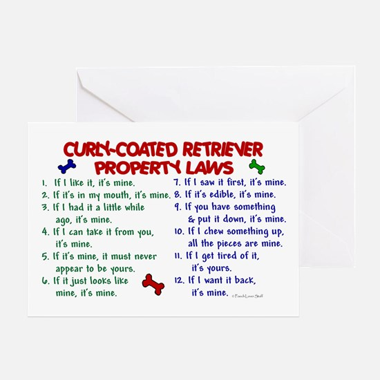 Curly-Coated Retriever Property Laws 2 Greeting Ca