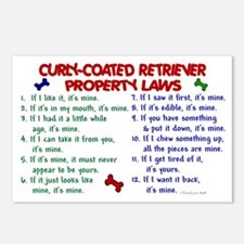 Curly-Coated Retriever Property Laws 2 Postcards (
