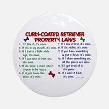 Curly-Coated Retriever Property Laws 2 Ornament (R