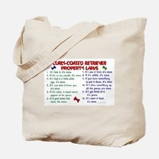 Curly-Coated Retriever Property Laws 2 Tote Bag