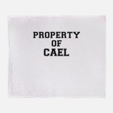 Property of CAEL Throw Blanket