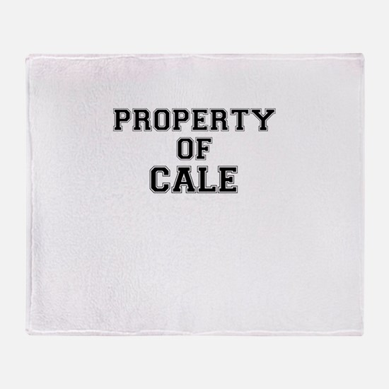 Property of CALE Throw Blanket