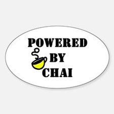 Powered by Chai: Oval Decal