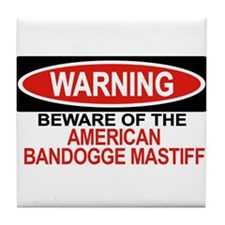 AMERICAN BANDOGGE MASTIFF Tile Coaster