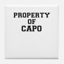 Property of CAPO Tile Coaster