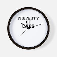 Property of CAPO Wall Clock