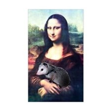 Mona Lisa Possum Rectangle Decal