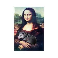 Mona Lisa Possum Rectangle Magnet (10 pack)