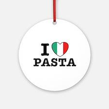 I Love Pasta Ornament (Round)