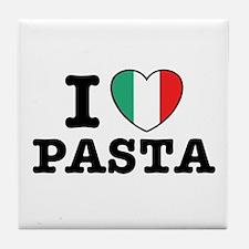 I Love Pasta Tile Coaster