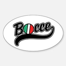 Bocce Oval Decal