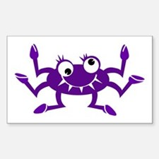 Crabby Rectangle Decal