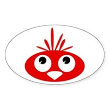 Red Bird Oval Decal