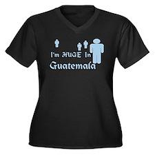 I'm Huge In Guatemala Women's Plus Size V-Neck Dar