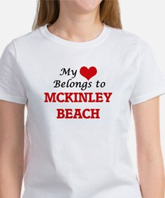 My Heart Belongs to Mckinley Beach Wiscons T-Shirt