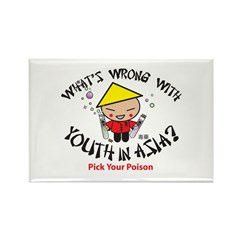 What's Wrong With Youth In As Rectangle Magnet (10