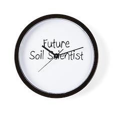Future Soil Scientist Wall Clock