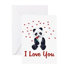 Panda Bear Love Greeting Card