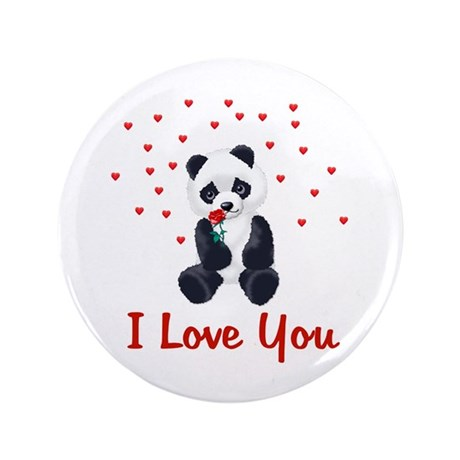 "Panda Bear Love 3.5"" Button (100 pack)"
