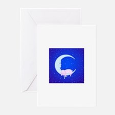 Bunny Sleeping on the Moon Cards (Pack of 10)