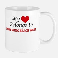 My Heart Belongs to Port Wing Beach West Wisc Mugs