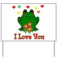 Love Is A Green Frog Yard Sign