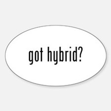 got hybrid? Oval Decal (10 pk) Decal