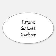 Future Software Developer Oval Decal