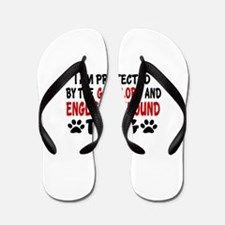 Protected By English Foxhound Flip Flops