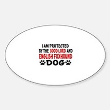 Protected By English Foxhound Decal