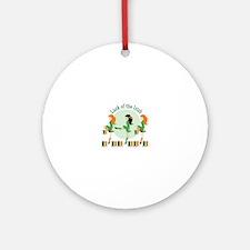 Luck Of Irish Round Ornament