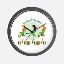 Luck Of Irish Wall Clock