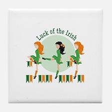 Luck Of Irish Tile Coaster