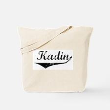 Kadin Vintage (Black) Tote Bag
