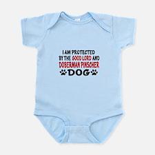Protected By Doberman Pinscher Infant Bodysuit