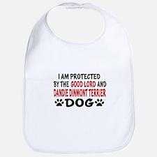 Protected By Dandie Dinmont Terrier Bib