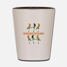 Dance Like Irish Shot Glass
