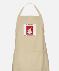 WARREN has been naughty BBQ Apron