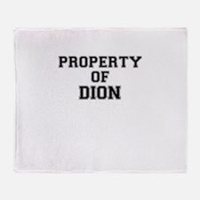 Property of DION Throw Blanket