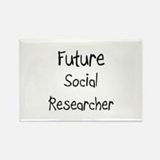 Future Social Researcher Rectangle Magnet