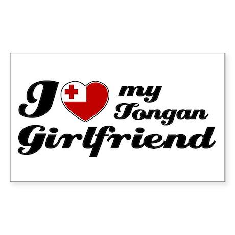 I love my Tongan girlfriend Rectangle Sticker